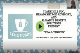 tea & tidbits logo plus episode title: It's That Time of Year Again - Open Enrollment
