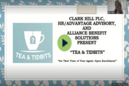 tea & tidbits logo plus episode title: It's That Time of Year Again - Open Enrollment