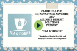 tea & tidbits logo plus title of installment: Workplace Mental Health and Employee Assistance Programs